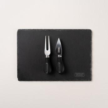 tagliere ardesia e coltelli
